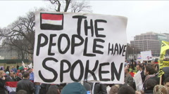 Egyptians protest in Washington, D.C.   - stock footage