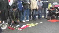 Prayer at Mubarak/Egypt Protest Stock Footage