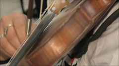 woman playing the violin - stock footage