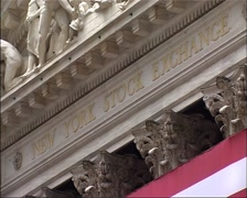 New York Stock Exchange sign PAL footage GFSD Stock Footage