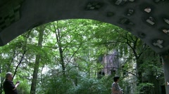 Hundertwasser House Glass Tunnel In Vienna Austria Stock Footage