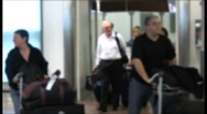Stock Video Footage of airport arriving gate