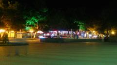 Time lapse of night in Gelendzik city Stock Footage