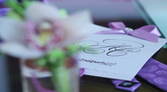 Stock Video Footage of bride's bouquet - groom's posy