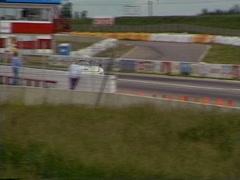 Motorsports, Porsche 935 on front straight, fast Stock Footage