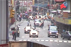 Busy NY Street Scene 1 - stock footage