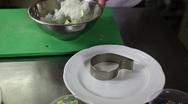 Food decoration yoghurt snowwhite dill fennel garlic yogurt traditional bulga Stock Footage