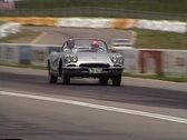Motorsports, 1962 corvette on the roadcourse Stock Footage
