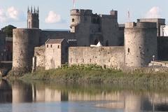 King John's Castle TeleCU Stock Footage