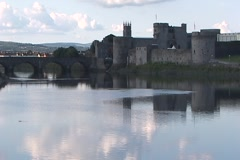 King John's Castle WS-TL Stock Footage