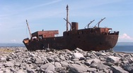 Irish Shipwreck 2 Stock Footage