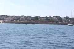 Inis Oirr From Water Stock Footage