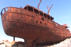 Irish Shipwreck 4 Stock Footage