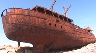 Irish Shipwreck 4 Stock Footage