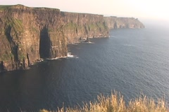 Cliffs of Moher HighWS Stock Footage