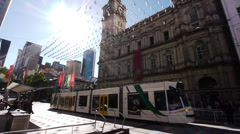 Melbourne GPO Tram Stop Stock Footage