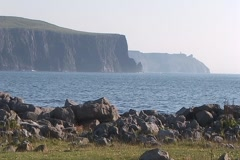 Cliffs of Moher Low WS - stock footage