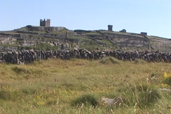 Castle Ruins - Inis Oirr-Multiple Stock Footage