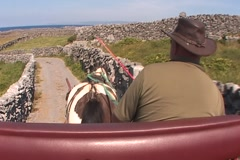 Carriage Ride - Inis Oirr Stock Footage