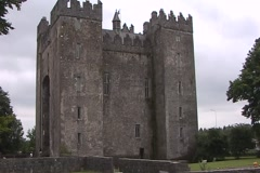 Bunratty Castle WS Stock Footage