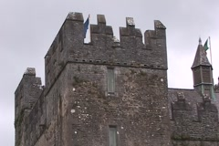 Bunratty Castle CU Turret Stock Footage