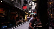 Stock Video Footage of Melbourne Degraves Street