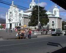 Basilica de Nuestra de los Angeles Stock Footage