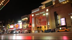 Kodak Theater in Hollywood, California USA  at Night  Stock Footage