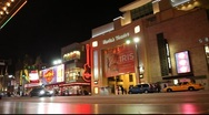 Stock Video Footage of Kodak Theater in Hollywood, California USA  at Night 2012