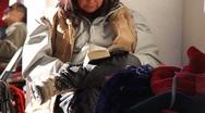 Native American Street Vendors 9 Stock Footage
