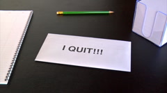 i quit!!! - stock footage