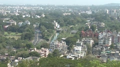 Pune city shoot top angel Stock Footage