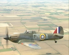 Hawker Hurricane Air To Air footage. WW2 fighter Stock Footage