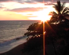 Sunset at Corcovado National park Stock Footage