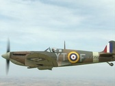 Stock Video Footage of Supermarine Spitfire Mk IIA (Royal Air Force code P7350). Air to Air over UK
