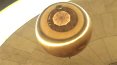 Foucault pendulum at Griffth Museum and Observatory, in LA Stock Footage