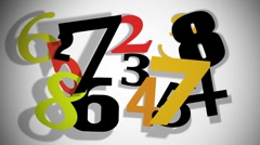 Countdown Numbers-1 Stock Footage