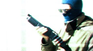 T311 terrorist robber criminal crime kidnaping Stock Footage