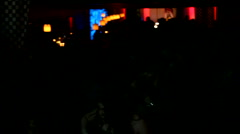 Crowd of young people dancing in a nightclub for festival celebration Stock Footage