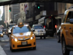 NYC Taxi Pick up Stock Footage