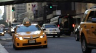 Stock Video Footage of NYC Taxi Pick up