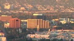 LA Skyline-54a Stock Footage
