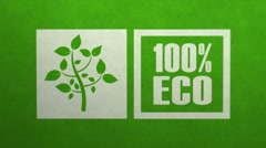 Ecology concept - 100 percent ecology Stock Footage
