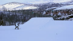 Ski jump at Park City HD3029 Stock Footage