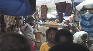 Africa: busy outdoor market in Lomé, Togo Stock Footage