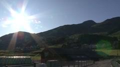 Engadin Switzerland Sunny Landscape Stock Footage