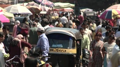 Pune city shoot & crowd Stock Footage