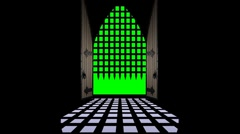 Gate open-Green screen Stock Footage