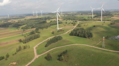 Windfarm aerial 1 Stock Footage