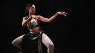 Belly dancer waving Stock Footage